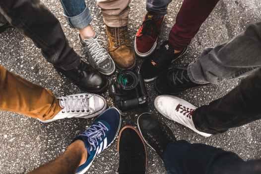 camera feet footwear legs